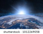 Earth In The Space. Blue...
