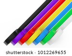 different colored adhesive...   Shutterstock . vector #1012269655