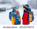 two little kids boys of... | Shutterstock . vector #1012276972