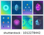 minerals and stones collection  ... | Shutterstock .eps vector #1012278442