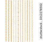 luxury gold chain of various... | Shutterstock .eps vector #1012278502