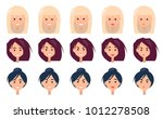 three women s portraits with... | Shutterstock .eps vector #1012278508