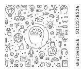 vector line web banner for... | Shutterstock .eps vector #1012278526