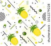 trendy seamless  memphis style... | Shutterstock .eps vector #1012279228