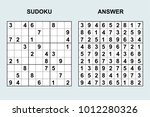 vector sudoku with answer 113....   Shutterstock .eps vector #1012280326