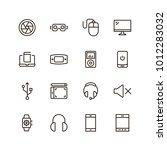 device flat icon set . single... | Shutterstock .eps vector #1012283032
