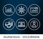 set of tips  website statistics ... | Shutterstock .eps vector #1012284646