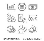 set of banking  finance and... | Shutterstock .eps vector #1012284682