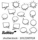 set of blank template in pop... | Shutterstock .eps vector #1012285918