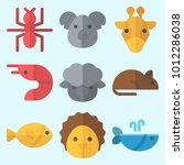 icons set about animals with... | Shutterstock .eps vector #1012286038