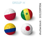 russia 2018 groups group h.... | Shutterstock . vector #1012289506