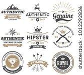 vintage retro vector logo for... | Shutterstock .eps vector #1012292836