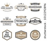vintage retro vector logo for... | Shutterstock .eps vector #1012292896