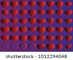red heart vector icon... | Shutterstock .eps vector #1012294048