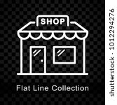 illustration of store icon on...   Shutterstock .eps vector #1012294276