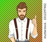 pop art vector illustration.... | Shutterstock .eps vector #1012297402