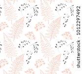 vector botanical seamless... | Shutterstock .eps vector #1012297492