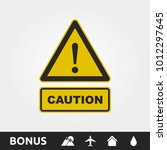 caution attention sign | Shutterstock .eps vector #1012297645