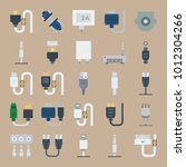 icon set about connectors... | Shutterstock .eps vector #1012304266