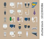 icon set about connectors... | Shutterstock .eps vector #1012304386