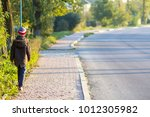 Child Boy Walking Alone On A...