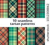 set of seamless tartan patterns   Shutterstock .eps vector #1012308862