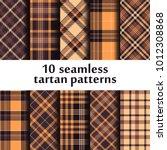 set of seamless tartan patterns | Shutterstock .eps vector #1012308868