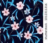 dark floral seamless pattern... | Shutterstock .eps vector #1012311316