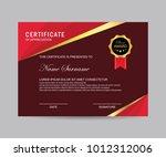 modern certificate vector | Shutterstock .eps vector #1012312006