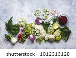plant based raw food vegan food ... | Shutterstock . vector #1012313128