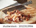 grilled crispy pork  it s...   Shutterstock . vector #1012313986