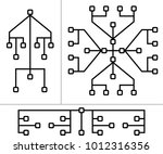 network connection  hub  social ... | Shutterstock .eps vector #1012316356