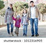 happy european  parents and... | Shutterstock . vector #1012316905