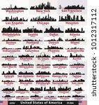 vector set of united states... | Shutterstock .eps vector #1012317112
