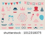 collection of party icons  ... | Shutterstock .eps vector #1012318375