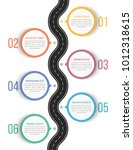 road infographics with six... | Shutterstock .eps vector #1012318615