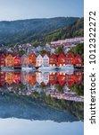 bergen street at night with... | Shutterstock . vector #1012322272