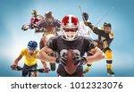 the conceptual multi sports...   Shutterstock . vector #1012323076