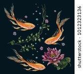 embroidery oriental pattern... | Shutterstock .eps vector #1012323136