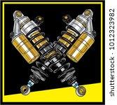 shock absorbers  eps 10   Shutterstock .eps vector #1012323982
