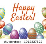 happy easter greeting card with ... | Shutterstock .eps vector #1012327822