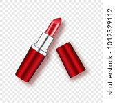 red lipstick   isolated on... | Shutterstock .eps vector #1012329112