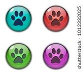 button icon logo footprint of...   Shutterstock . vector #1012332025
