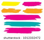 collection of hand drawn... | Shutterstock .eps vector #1012332472