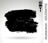 black brush stroke and texture. ... | Shutterstock .eps vector #1012334752