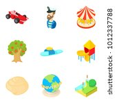 happiest period icons set.... | Shutterstock .eps vector #1012337788