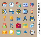 icon set about education and... | Shutterstock .eps vector #1012340032