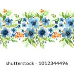 floral border for your design.... | Shutterstock . vector #1012344496