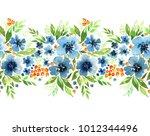 floral border for your design.... | Shutterstock . vector #1012344496
