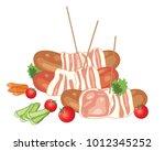 an illustration of bacon...   Shutterstock . vector #1012345252